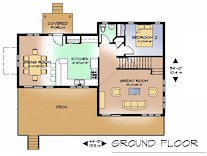 The Lakeview ground floor plan
