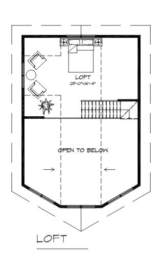 The Sandpiper Loft floor plan